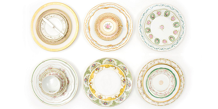Plate Vintage Crockery Rental \u0026 Rescue | Chicago | Rent Mismatched China for Wedding Tablescapes  sc 1 th 159 : vintage dinnerware rental - pezcame.com